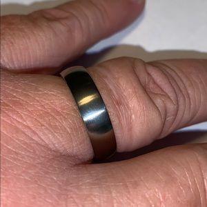 Mens wedding ring titanium